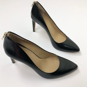 Ann Taylor Black Genuine Leather Heel Pumps Sz 9